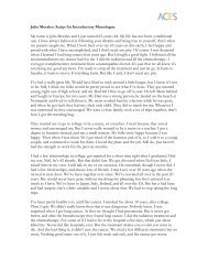 Julia Morales: Script for Introductory Monologue My name is Julia ...