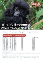 Wildlife Encounter - pre departure pack - Absolute Africa