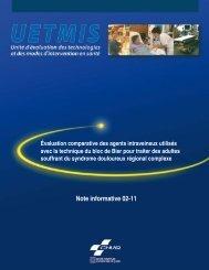 Évaluation comparative des agents intraveineux utilisés ... - CHUQ