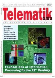 Telematik 2/02 - Institut für Grundlagen der Informationsverarbeitung ...