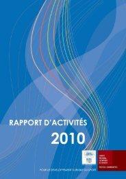 Télécharger le rapport d'activités 2010 - CROS