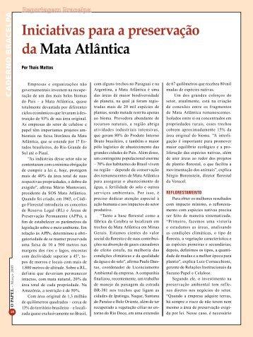 Iniciativas para a preservação da Mata Atlântica - Revista O Papel