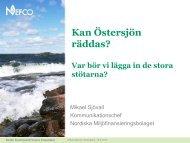 Kan Östersjön räddas? Var bör vi lägga in de stora stötarna? - Nefco