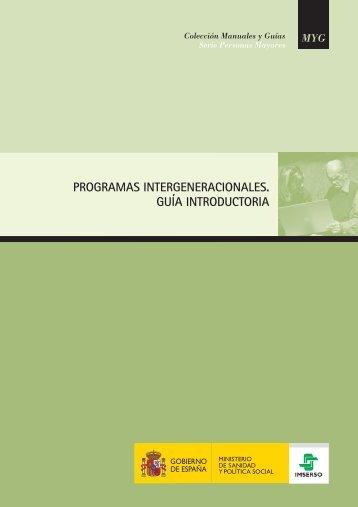 Programas Intergeneracionales. Guía introductoria - Portal Mayores