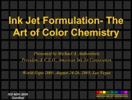 Ink Jet Formulation- The Art of Color Chemistry 2005 [Read-Only]