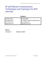 IP and Ethernet Communication Technologies, Topologies and ...