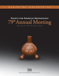 79th Annual Meeting - Society for American Archaeology