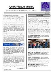 Stifterbrief 2006 - Stiftung Pfadfinden