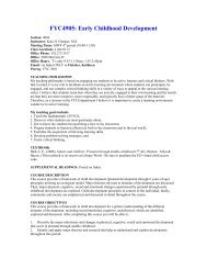 Syllabus - University of Florida Family Youth and Community Sciences