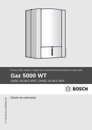 Upute za upotrebu (PDF 1.3 MB) - Bosch toplinska tehnika
