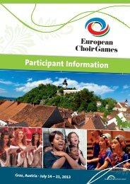 European Choir Games Graz 2013 - interkultur.com
