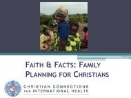 Family Planning Advocacy - Christian Connections for International ...