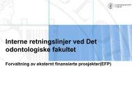 Rutiner som wordformat - Det odontologiske fakultet