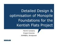 Detailed Design & optimisation of Monopile Foundations for the ...
