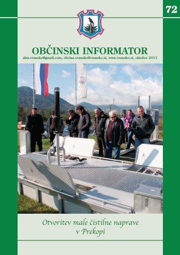 Obcinski informator st. 72 - Občina Vransko