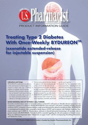 BYDUREON Product Information Guide June 2012 - U.S. Pharmacist