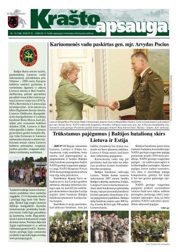 Trūkstamus pajėgumus į Baltijos batalioną skirs Lietuva ir Estija ...