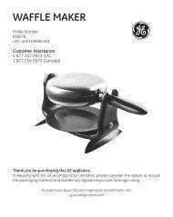 Waffle maker - GE :: Housewares