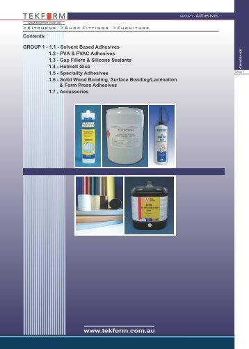 Adhesives - Tekform