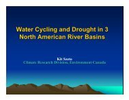 Water Cycling and Drought in 3 North American River Basins