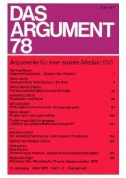 Das Argument 78 - Berliner Institut für kritische Theorie eV
