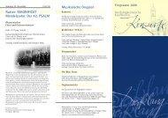 Jahresprogramm 2008 - Kirchenmusik an der Dreifaltigkeitskirche ...