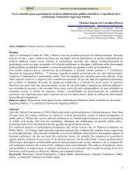 Novos caminhos para a participação social na administração ... - Ipea