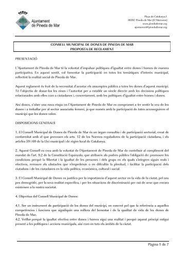Pàgina 1 de 7 - Ajuntament de Pineda de Mar