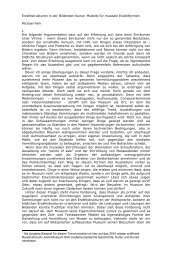 Erzählstrukturen in der Bildenden Kunst: Modelle für museale ...