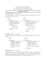 Algorithmes pour le pgcd étendu et crt