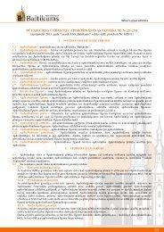 Būvniecības garantiju apdrošināšanas noteikumi - Baltikums