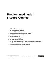 Problem med ljudet i Adobe Connect - ViPER - Umeå universitet