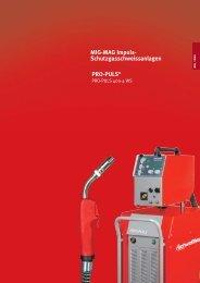 MIG-MAG Impuls- Schutzgasschweissanlagen PRO-PULS®