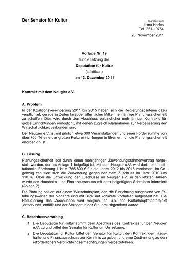 Vorlage 19 - Kontrakt Neugier.pdf - Senator für Kultur - Bremen