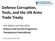 Presentation slides – Alan Walkdron & Tobias Bock - Transparency ...