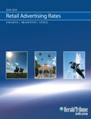 Retail Advertising Rates - Herald Tribune Media Source
