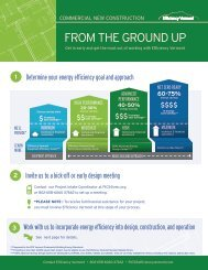 Commercial New Construction Brochure - Efficiency Vermont
