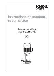 Pompe centrifuge Type TG, TF, TS - Haenchen