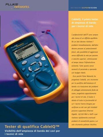 Tester di qualifica CableIQ™ - Gfo Europe S.p.A.