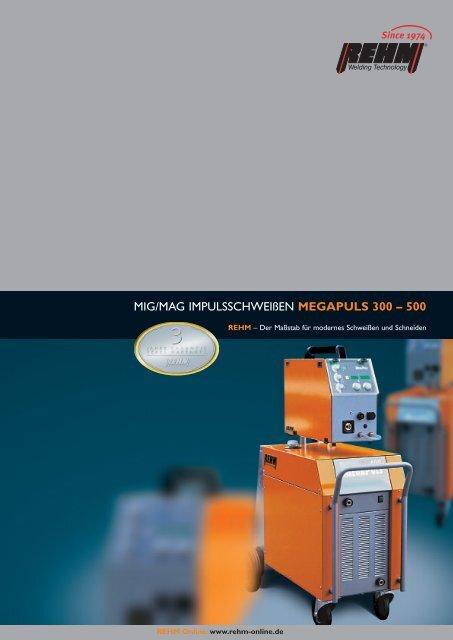 MIG/MAG IMPULSSCHWEIßEN MEGAPULS 300 – 500