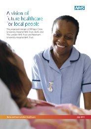 BELH summary doc final.qxd:Layout 1 - Barts Health NHS Trust
