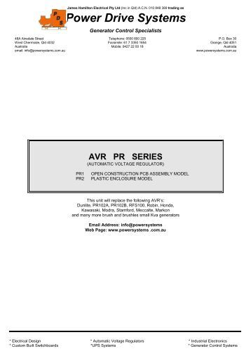 Generator tm Manual