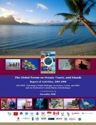 Report of Activities, 2005 - 2008 for Global Forum - Global Ocean ...