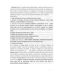 - - ACTA No. 45.- En la ciudad de Tijuana, Baja California, siendo ...