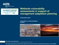 Wetlands vulnerability assessments in support of management ...