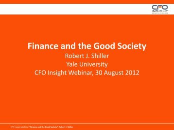 Finance and the Good Society - CFO Insight
