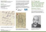 in einem Gedenkbuch - NS-Dokumentationszentrum München