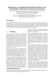 Modellierung von Komplexität und Qualität als Faktoren von ...