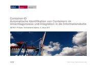Container-ID Automatische Identifikation von ... - bei ISETEC-II