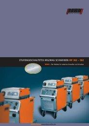 STUFENGESCHALTETES MIG/MAG SCHWEIßEN RP 362 – 562